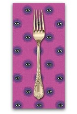 PD's Tula Pink Collection De La Luna, I See You in Clairvoyant, Dinner Napkin