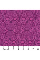 PD's Tula Pink Collection De La Luna, Sugar Skulls in Clairvoyant, Dinner Napkin