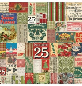 Tim Holtz Merriment, 25th in Multi, Fabric Half-Yards PWTH080