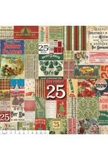 PD's Tim Holtz Collection Merriment, 25th in Multi, Dinner Napkin