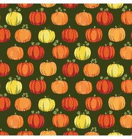 Andover Fabrics Good Life, Pumpkins in Green, Fabric Half-Yards TP-2027-G