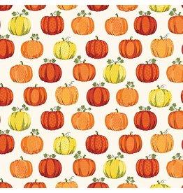 Andover Fabrics Good Life, Pumpkins in Cream, Fabric Half-Yards TP-2027-Q