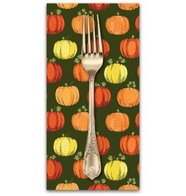 PD's Andover Collection Good Life, Pumpkins in Green, Dinner Napkin