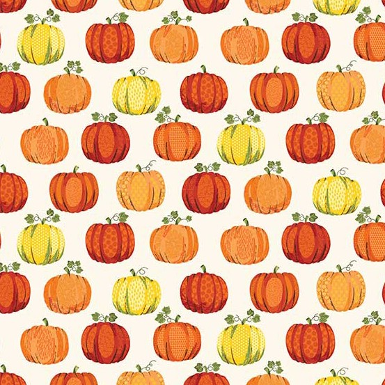 PD's Andover Collection Good Life, Pumpkins in Cream, Dinner Napkin