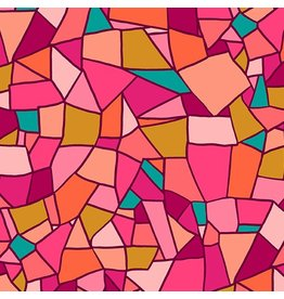 Andover Fabrics Mosaic, Mosaic Tile in Warmth, Fabric Half-Yards A-8879-E