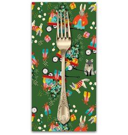 PD's Blend Fabrics Collection A Winters Tail, Marshmallow Morning in Green, Dinner Napkin