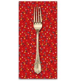 PD's Blend Fabrics Collection A Winters Tail, Light It Up in Red, Dinner Napkin