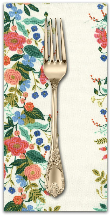 PD's Rifle Paper Co Collection English Garden, Floral Vines in Cream, Dinner Napkin