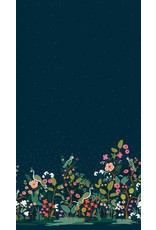 Rifle Paper Co. English Garden, Growing Garden in Navy with Gold Metallic, Fabric Half-Yards AB8057-001