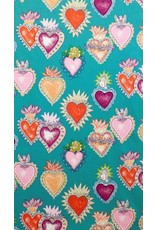 Alexander Henry Fabrics Folklorico, Alma y Corazon in Turquoise 8282BF