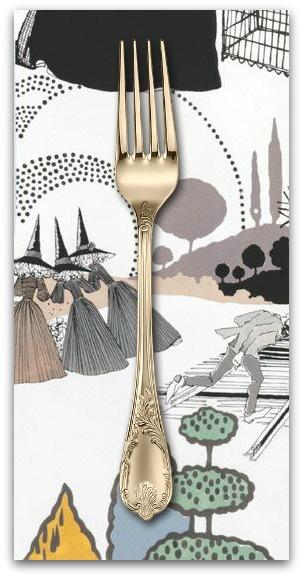 PD's Alexander Henry Collection A Ghastlie Pastoral in Mauve, Dinner Napkin