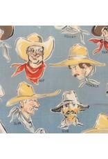 Alexander Henry Fabrics Santa Fe, Buckaroos in Chambray, Fabric Half-Yards 269B