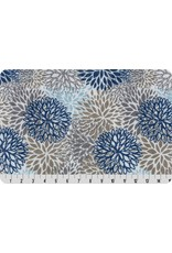 Shannon Fabrics Double Gauze, Embrace, Premium Blooms in Blue, Fabric Half-Yards