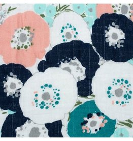 Shannon Fabrics Double Gauze, Embrace, Fresh Cut in Coral, Fabric Half-Yards
