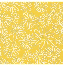 Karen Lewis Blueberry Park, Flowers in Canary, Fabric Half-Yards AWI-15747-131