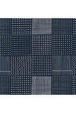 PD's Karen Lewis Collection Blueberry Park, Patch in Navy, Dinner Napkin