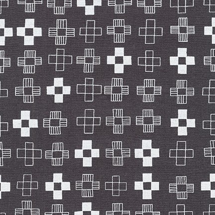Karen Lewis Blueberry Park, Plus in Gotham Grey, Fabric Half-Yards AWI-17466-400