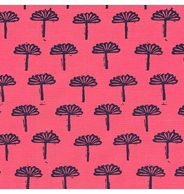 Karen Lewis Blueberry Park, Trees in Punch, Fabric Half-Yards AWI-17467-367