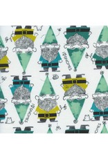 PD's Sarah Watts Collection Front Yard, Gnomes in Green, Dinner Napkin