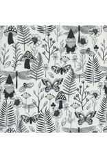 PD's Sarah Watts Collection Front Yard, Garden in Black, Dinner Napkin