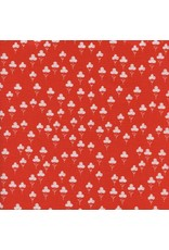 Sarah Watts Front Yard, Clover In Red, Fabric Half-Yards S2073-003