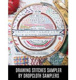 Dropcloth Samplers Drawing Stitches Sampler, Embroidery Sampler from Dropcloth Samplers