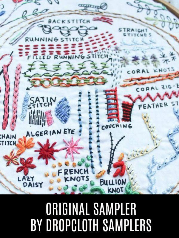 Dropcloth Samplers The Original Sampler, Embroidery Sampler from Dropcloth Samplers
