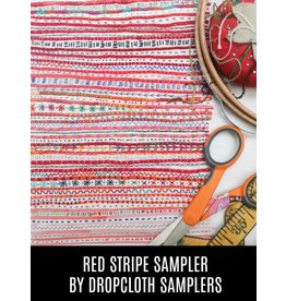 Dropcloth Samplers The Red Stripe Sampler, Embroidery Sampler from Dropcloth Samplers
