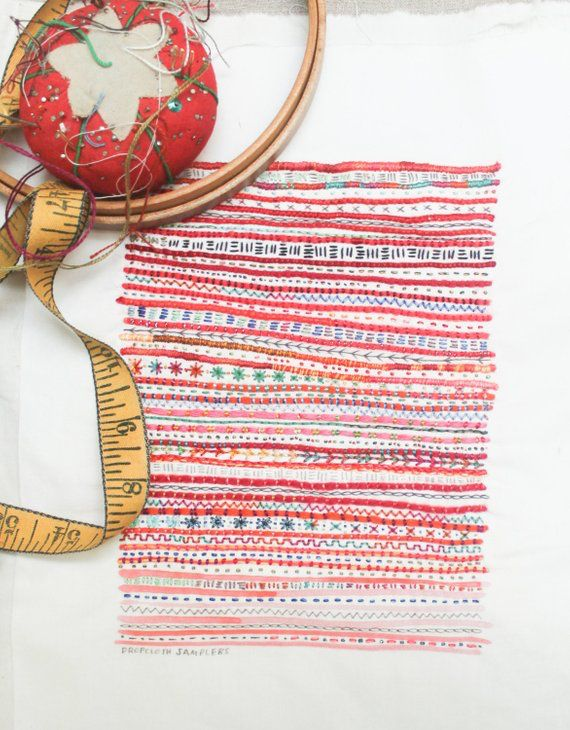 The Red Stripe Sampler Embroidery Sampler From Dropcloth Samplers