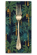 PD's Robert Kaufman Collection Sevenberry, Island Paradise in Navy, Dinner Napkin