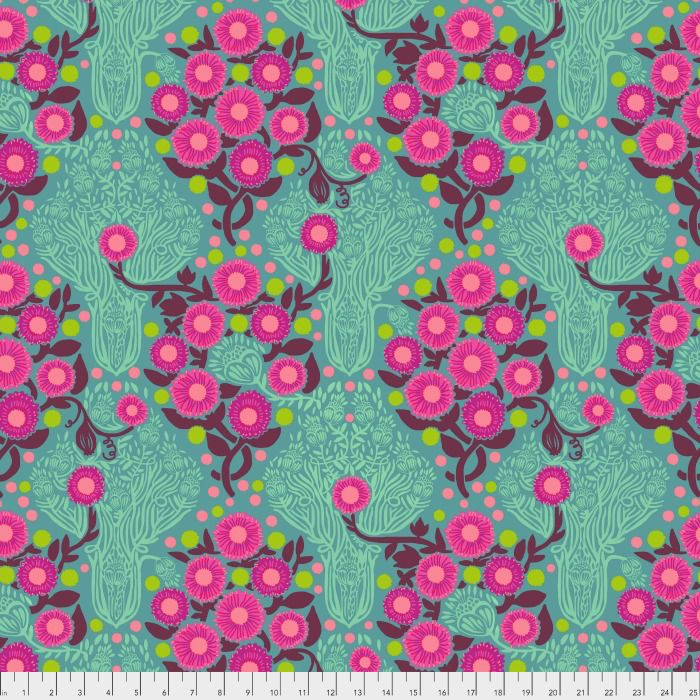 PD's Anna Maria Horner Collection Passionflower, Imposter in Patina, Dinner Napkin