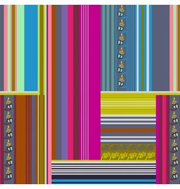 Anna Maria Horner Passionflower, Belonging in Magenta, Fabric Half-Yards PWAH126