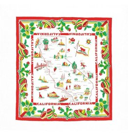 "Red & White Kitchen Co. California Cactus and Sombrero Flour Sack Towel 22"" x 22"""