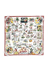 "Red & White Kitchen Co. Los Angeles Flour Sack Towel 22"" x 22"""