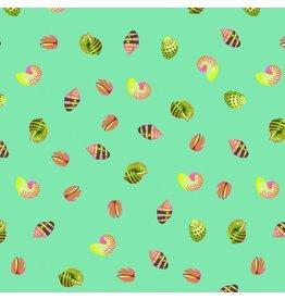 Tula Pink Zuma, Sea Shells in Seaglass, Fabric Half-Yards PWTP121
