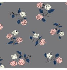 Kim Kight Steno Pool, Roses in Shadow, Fabric Half-Yards K3065-003