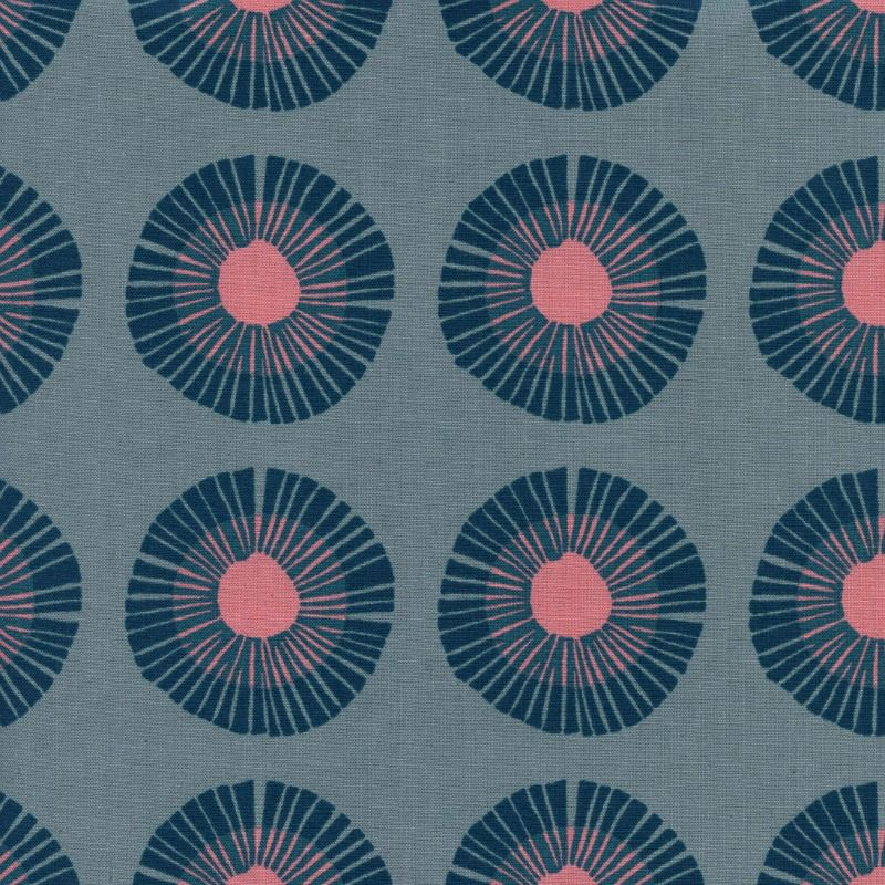PD's Jen Hewitt Collection Imagined Landscapes, Seaside Daisy in Slate Unbleahed Cotton, Dinner Napkin