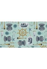 Rae Ritchie Aweigh North, Sea Supplies in Harbor, Fabric Half-Yards STELLA-SRR1057