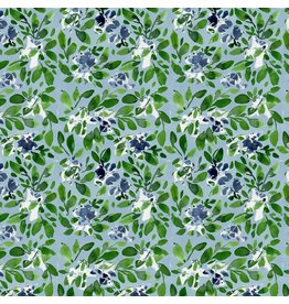 Natalie Malan Georgia Blue, Sprinkler in Navy, Fabric Half-Yards PWNM012