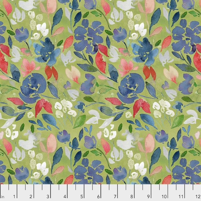PD's Natalie Malan Collection Georgia Blue, Charming in Apple, Dinner Napkin