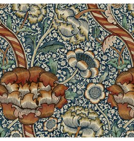 William Morris & Co. Morris & Co., Montagu Wandle in Forest, Fabric Half-Yards PWWM015