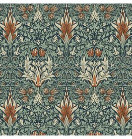 William Morris & Co. Morris & Co., Montagu Snakes Head in Forest, Fabric Half-Yards PWWM010
