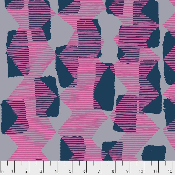 Bookhou Vestige, Tilli Rain in Magenta, Fabric Half-Yards PWBH004