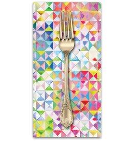 PD's Moda Collection Gradients, Triangles in Multi, Dinner Napkin