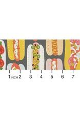 Alexander Henry Fabrics Boardwalk, Hot Dog! in Graphite, Fabric Half-Yards 8692B