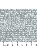 Robert Kaufman Architextures Wide, Scribble Notes in Pewter, Fabric Half-Yards AFRX-18144-183