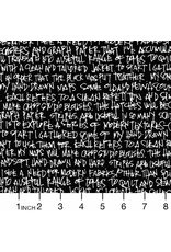 PD's Carolyn Friedlander Collection Architextures, Scribble Notes in Black, Dinner Napkin