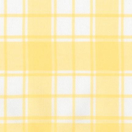 Robert Kaufman Brushed Cotton Flannel, Brooklyn Plaid in Bumble Bee, Fabric Half-Yards