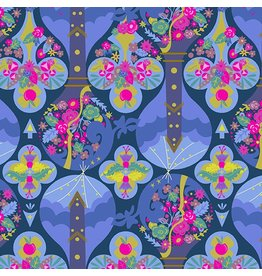 Alison Glass Road Trip, Treehouse in Night, Fabric Half-Yards A-8899-B