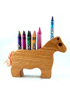 Alain Mailhot - Sculpteur 1 Horse - Wax crayons holder